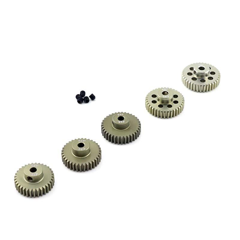 "1//8/"" 3.2mm 29 48P HobbyStar 48DP Pinion Gear 29T Hard Anodized Quiet Operation"