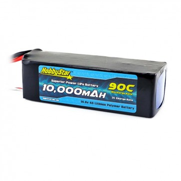 HobbyStar 10,000mAh 14.8V, 4S 90C LiPo Battery
