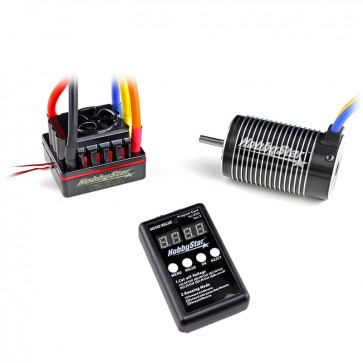HobbyStar 1/8 Combo, 120A ESC and 4068 Brushless 4-Pole Motor, Includes Program Card