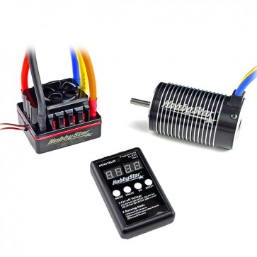 HobbyStar 1/8 Combo, 150A ESC and 4068 Brushless 4-Pole Motor, Includes Program Card