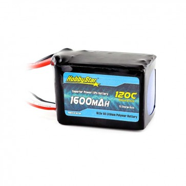 HobbyStar 1600mAh 18.5V, 5S 120C LiPo Battery