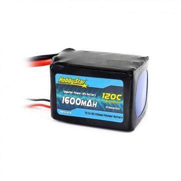 HobbyStar 1600mAh 22.2V, 6S 120C LiPo Battery