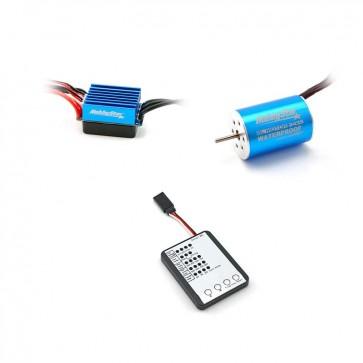 HobbyStar Mini Combo, 1/14, 1/16, 1/18, 35A ESC and 2435 Brushless 4-Pole Motor, Includes Program Card