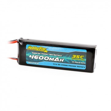 HobbyStar 4600mAh 11.1V, 3S 35C LiPo Battery