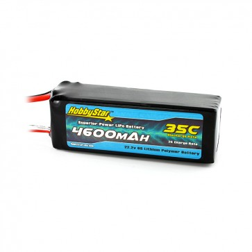 HobbyStar 4600mAh 22.2V, 6S 35C LiPo Battery