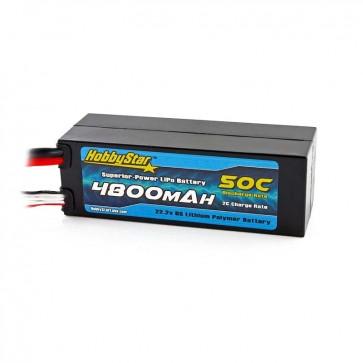 HobbyStar 4800mAh 22.2V, 6S 50C Compact Hardcase LiPo Battery