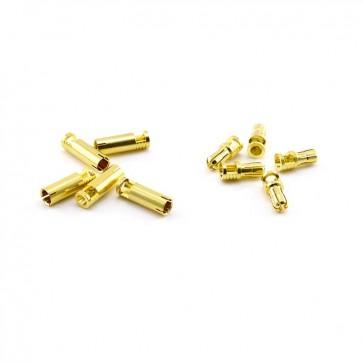 HobbyStar Bullet Connectors, V2, 4.0mm/Gold, 5 Sets