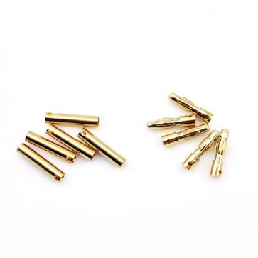 HobbyStar Bullet Connectors, 4.0mm/Gold, 5 Sets