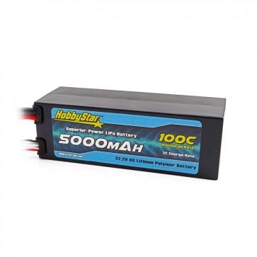 HobbyStar 5000mAh 22.2V, 6S 100C Compact Hardcase LiPo Battery