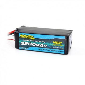HobbyStar 5200mAh 29.6V, 8S 45C LiPo Battery
