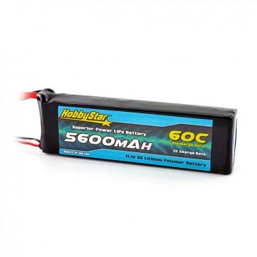 HobbyStar 5600mAh 11.1V, 3S 60C LiPo Battery