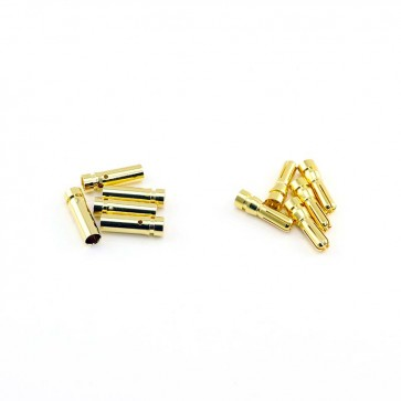 HobbyStar Bullet Connector Set 5.0mm/Gold, 5 Sets