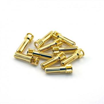 HobbyStar Bullet Connectors, Low Profile, 5.0mm/Gold, 10pk
