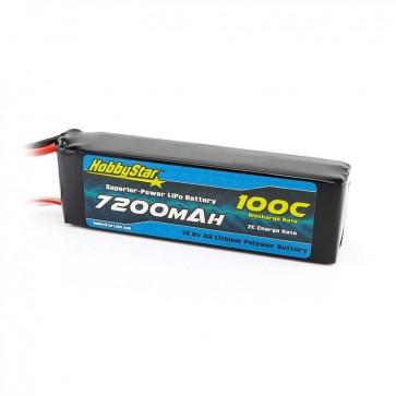 HobbyStar 7200mAh 14.8V, 4S 100C LiPo Battery