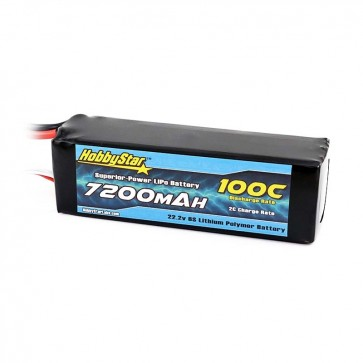 HobbyStar 7200mAh 22.2V, 6S 100C LiPo Battery - Fits UDR™