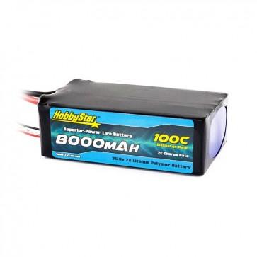 HobbyStar 8000mAh 25.9V, 7S 100C LiPo Battery