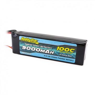 HobbyStar 9000mAh 11.1V, 3S 100C LiPo Battery