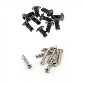HobbyStar Steel Button Head Screw, 10pk