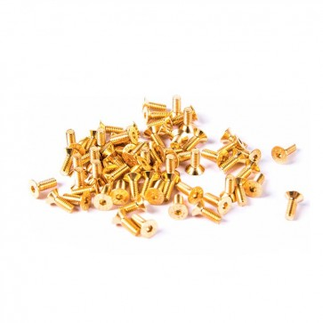 HobbyStar Steel Flat Head Screw, Gold, 10pk