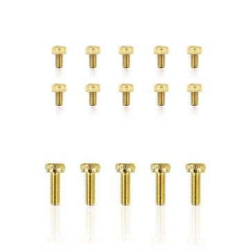 HobbyStar Steel Socket Head Screw, Gold, 10pk