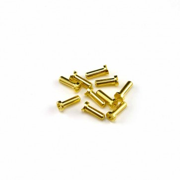 HobbyStar Bullet Connectors, Low Profile, 4.0mm/Gold, 10pk