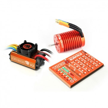 Leopard 1/10 Combo, 60A V2 ESC with Brushless Motor, Includes Program Card