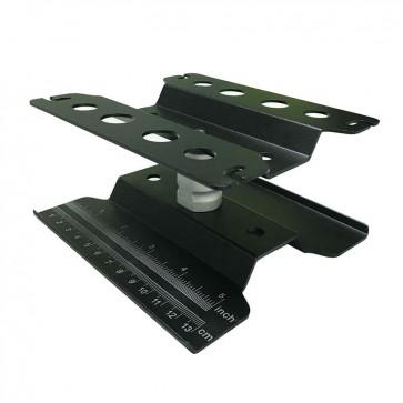 Aluminum Rotating Car Stand, Adjustable Height, Black