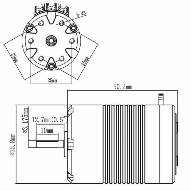 HobbyStar 540 Brushless Sensored Motor. Zoom