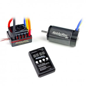 HobbyStar 1/8 Combo, 120A ESC and 4076 Brushless 4-Pole Motor, Includes Program Card