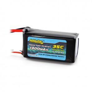 HobbyStar 1300mAh 14.8V, 4S 35C LiPo Battery