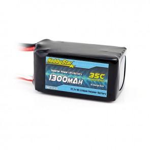 HobbyStar 1300mAh 22.2V, 6S 35C LiPo Battery
