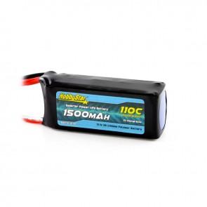 HobbyStar 1500mAh 11.1V, 3S 110C LiPo Battery