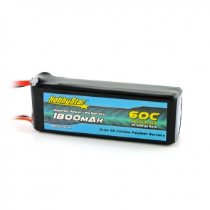 HobbyStar 1800mAh 14.8V, 4S 60C LiPo Battery