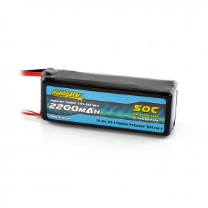 HobbyStar 2200mAh 14.8V, 4S 50C LiPo Battery