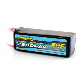 HobbyStar 2200mAh 18.5V, 5S 50C LiPo Battery