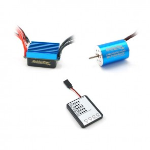 HobbyStar Mini Combo, 1/16, 1/18, 25A ESC and 2435 Brushless 4-Pole Motor, Includes Program Card