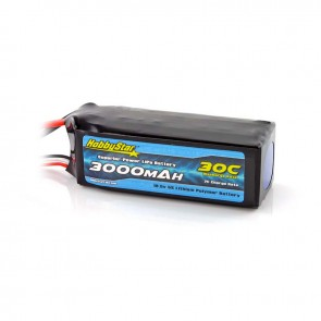 HobbyStar 3000mAh 18.5V, 5S 30C LiPo Battery