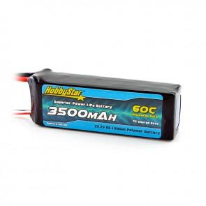 HobbyStar 3500mAh 22.2V, 6S 60C LiPo Battery