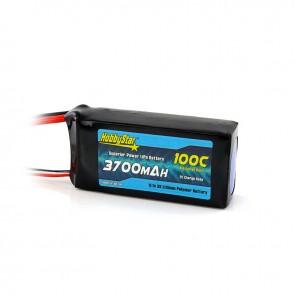 HobbyStar 3700mAh 11.1V, 3S 100C LiPo Battery