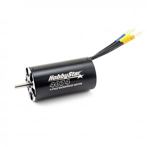 HobbyStar 4074 4-Pole Brushless Sensorless Boat Motor, Waterproof