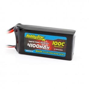 HobbyStar 4100mAh 11.4V, 3S HV 100C LiPo Battery