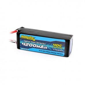 HobbyStar 4200mAh 22.2V, 6S 40C LiPo Battery