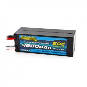 HobbyStar 4800mAh 22.2V, 6S 50C Compact Hardcase LiPo Battery - EC5 style
