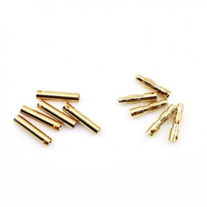 HobbyStar Bullet Connectors, 4.0mm/Gold, 5 Sets