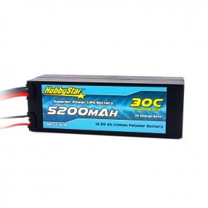 HobbyStar 5200mAh 14.8V, 4S 30C Hardcase LiPo Battery