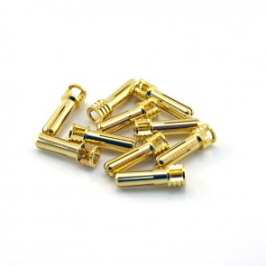 HobbyStar Bullet Connectors, Low Profile, 5.0mm/Gold, 10pk