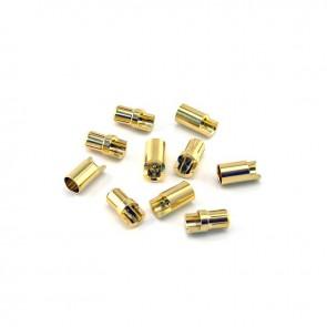 HobbyStar Bullet Connectors, 6.5mm/Gold, 5 Sets