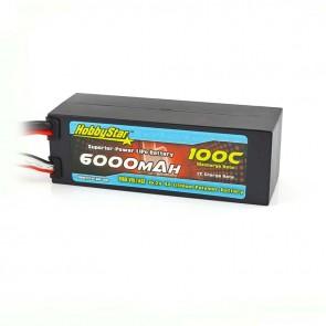 HobbyStar 6000mAh 15.2V, 4S HV 100C Hardcase LiPo Battery