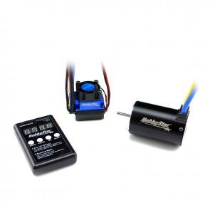 HobbyStar Short Course Combo, 60A ESC and 550 Brushless, Sensorless 4-Pole Motor, 3.2mm Shaft, Includes Program Card