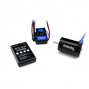HobbyStar Short Course Combo, 60A ESC and 550 Brushless, Sensorless 4-Pole Motor, 5.0mm Shaft, Includes Program Card
